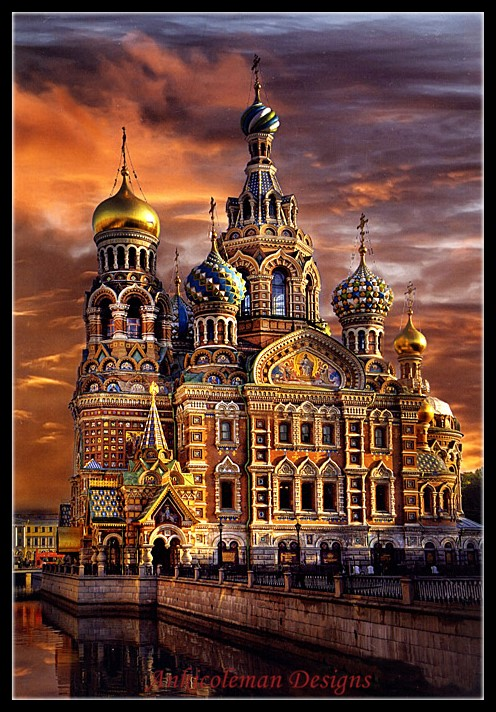 Embroidery Counted Cross Stitch Kits Needlework - Crafts 14 Ct DMC Color DIY Arts Handmade Decor - Cathedral Of St. Petersburg