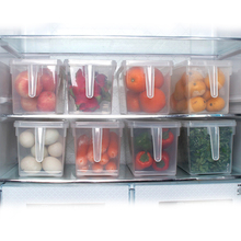 1pcs Kitchen Transparent PP Storage Box Beans Contain Sealed Home Organizer Food Container Refrigerator Boxes