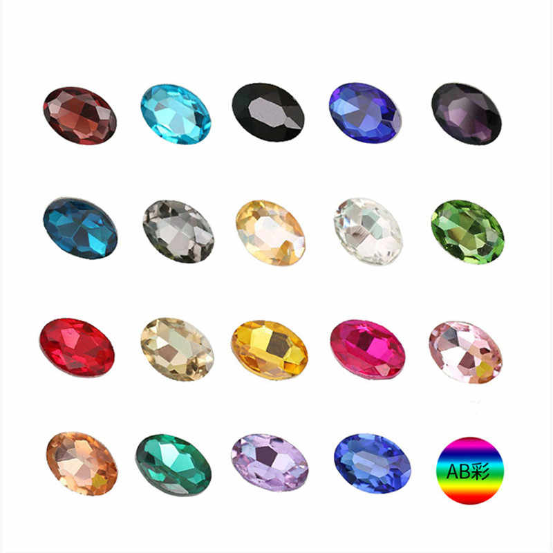 5-50pcs 6 Sizes Oval Faceted Acrylic Craft Art DIY Clothes Decoration Gems  Rhinestone Strass 3a5615b67be6