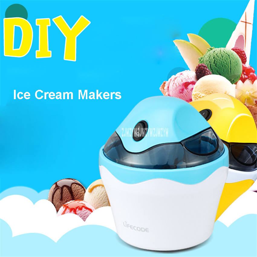 SU-583 Family Fully Automatic Ice Cream Machine Self Made Fruit Ice Cream Machine ABS shell DIY soft and hard ice cream machine