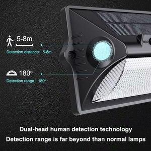 Image 2 - Solar Light Outdoor Dual PIR Motion Sensor Solar Powered Lamp 180 Degree Sensor Wall Lamp RGBW LED Waterproof Garden Solar Light