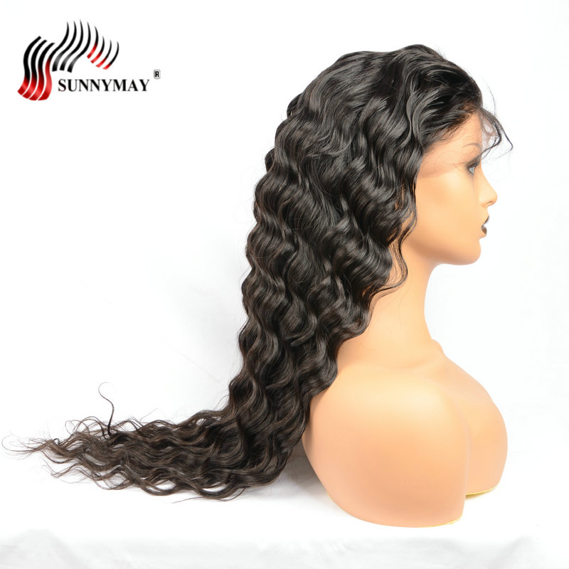 Sunnymay Πλήρης Lace Ανδρικά μαλλιά - Ανθρώπινα μαλλιά (για μαύρο) - Φωτογραφία 4