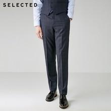 Выбранные Для мужчин мужской шерстяной плед прямой классический крой брюк T   41836C503