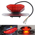 12V 16-LED LED Motorcycle Turn Signal Brake License Plate Intergrated Tail Light ABS Red