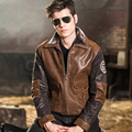 2016 Men's air force flight jackets real leather jacket pigskin Genuine Leather jacket men leather coat padding cotton