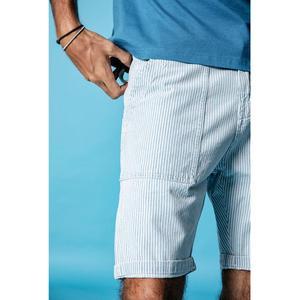 Image 3 - Мужские шорты карго SIMWOOD, повседневные высококачественные джинсы в Вертикальную Полоску из 100% хлопка, 190005