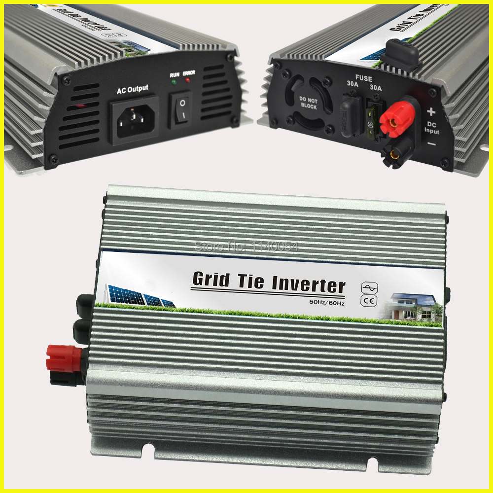 500W 10.5-28VDC Grid Tie Solar Inverter with MPPT Function for 600W 18V PV Solar Panel Modules, On Grid 500W Power Inverter 500w micro grid tie inverter for solar home system mppt function grid tie power inverter 500w 22 60v
