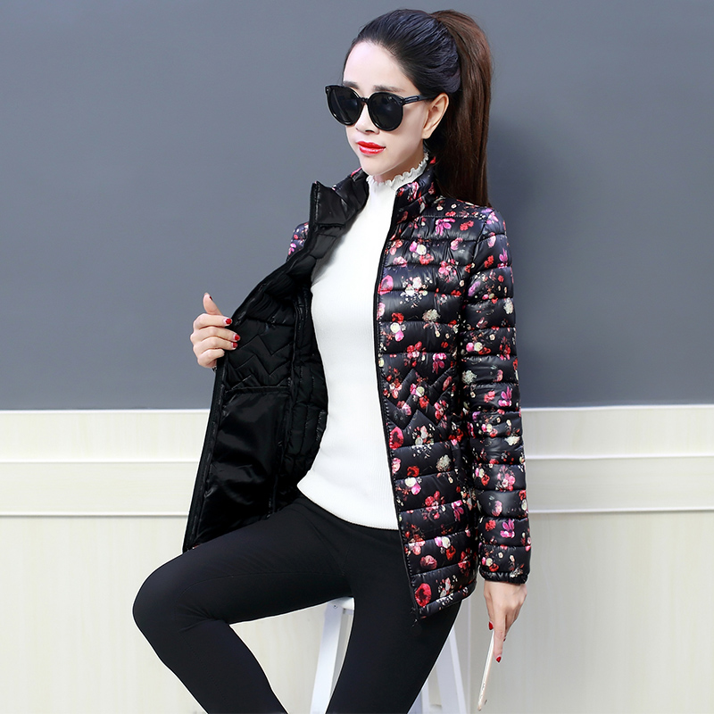 Fashion Print Winter Jacket Womens Down Jacket Plus Size 2019 New Collection Padded Down   Parka   Female Jacket Winter Woman Coat