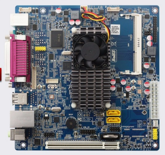 DDR3 Mini D525 industrial control board motherboard Supermarket POS cash register mainboard dual core CPU advertising