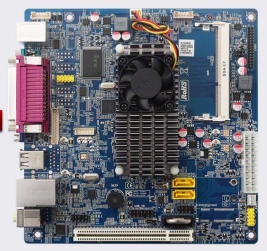 DDR3 Mini D525 Industrial Control Board Motherboard Supermarket POS Cash Register Mainboard Dual-core CPU Advertising Machine