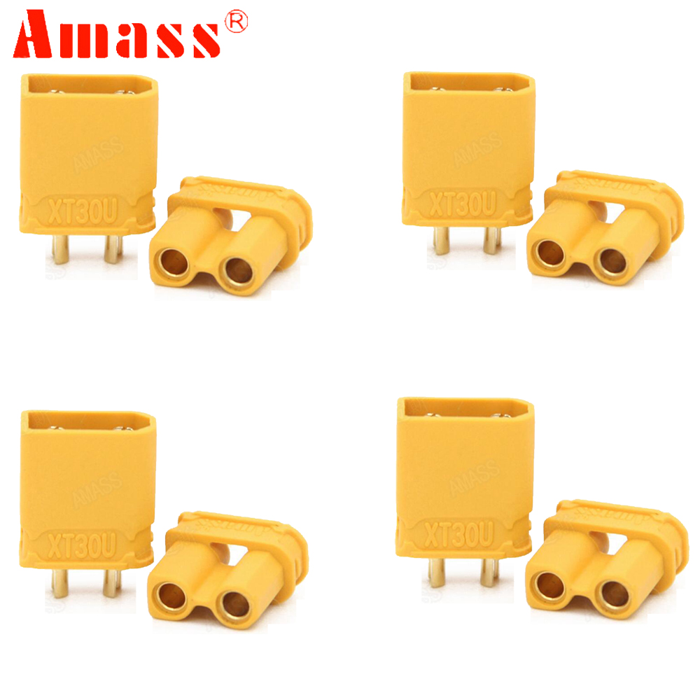 50pair/lot Amass XT30U Male Female Bullet Connector Plug the Upgrade XT30 For RC FPV Lipo Battery RC Quadcopter image