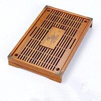 가정용 중국어 쿵푸 차 트레이 단단한 나무 차 트레이 테이블 차 43*28*6 cm 쿵후 gongfu 차 세트