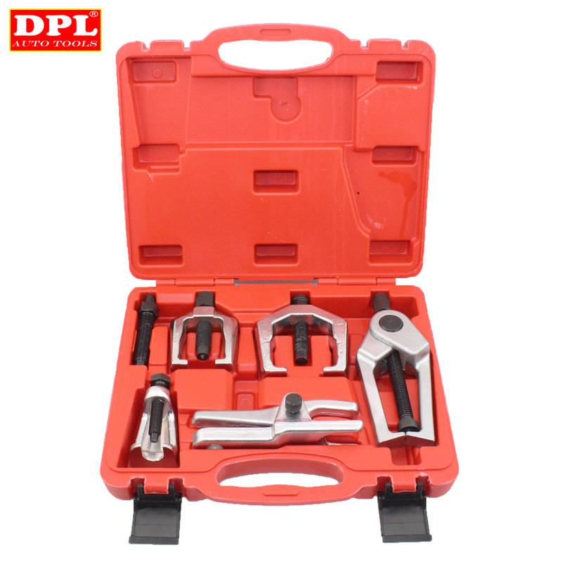 6pc Front End Service Tool Kit Ball Joint Separator Pitman Arm Tie Rod Puller цена