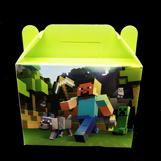 6pcs Lot Minecraft Theme Candy Boxes Birthday Party Decorations Gift