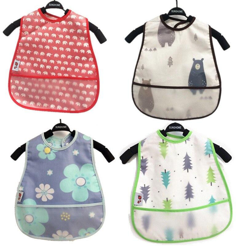 Waterproof Baby Bibs Adjustable Infant Kids Feeding Bibs Apron Burp Cloths SS