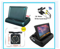 Espelho de Carro Monitor de 2.4G Sem Fio dobrável 4.3 + HD CCD led Traseira/Vista frontal Camera + Transmissor Sem Fio receptor de Estacionamento seguro