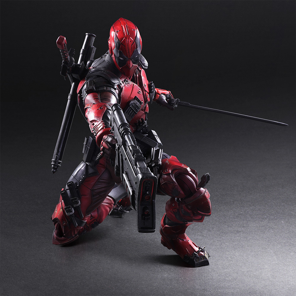 Play Arts Marvel 26cm Deadpool Original PVC Action Figure Model Toys-in Action & Toy Figures from Toys & Hobbies    1