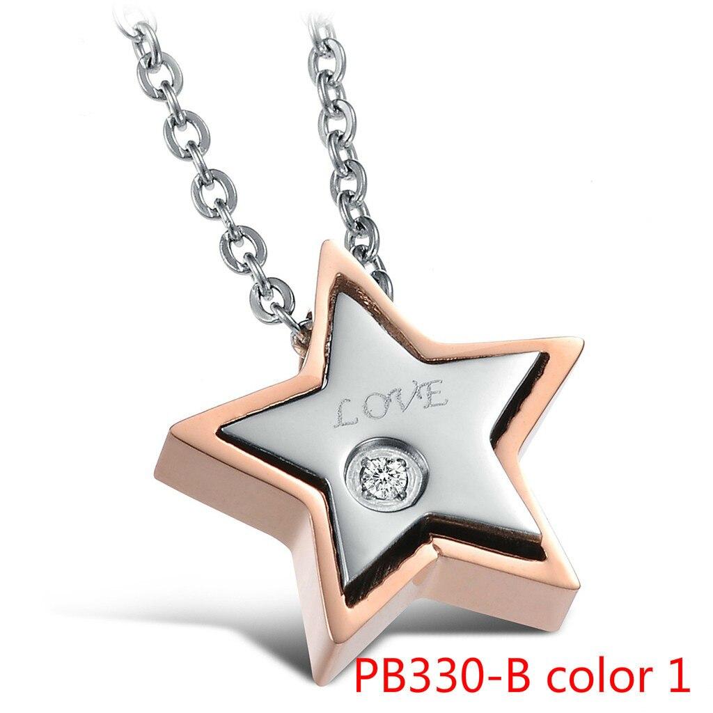Ornements Nouveau Modèle Coréen Bijoux Viennent De Réel Amour De Star Exquis Lovers Titane Acier Collier PB330