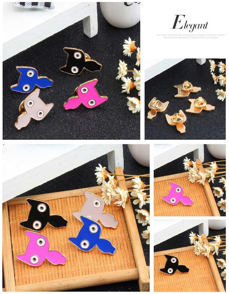 Kualitas Tinggi Kreatif Kartun Kucing Lucu Flamingo Kelinci Kuda Berwarna-warni Burung Enamel Pin Bros Kerah Kerah Pin Bros