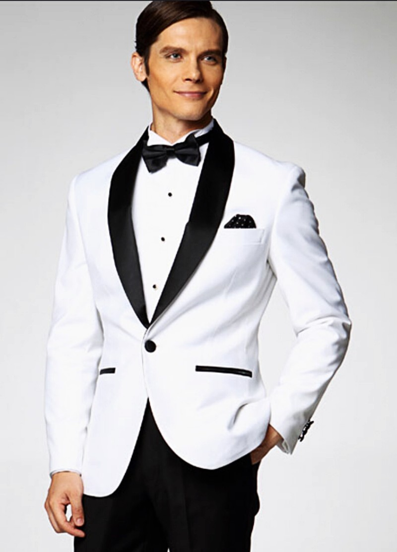 Aliexpress.com : Buy New men white suits slim fit One Button Black