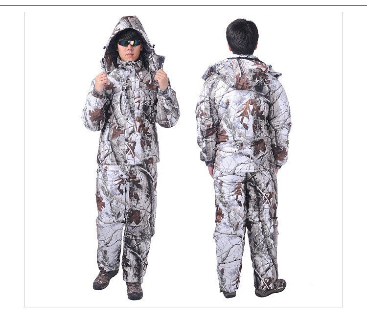 Browning winter snow camouflage hunting clothes padded ...