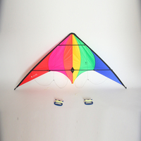 Nylon Kite Cerf Volant Rainbow Kite With Handle Lines Parafoil Outdoor Parachute Pipas Cometa Voladora Stunt Kite Surf Aquilone