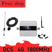 Усилитель сигнала сотовой связи 4G LTE, ретранслятор сигнала сотовой связи, 1800 МГц, GSM 1800, ЖК дисплей, присоска с антенной