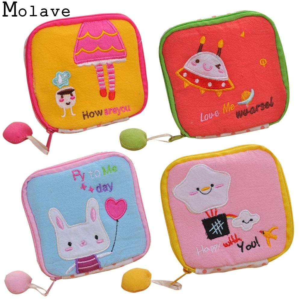 New Fashion Women Cute Sanitary Pad Organizer Holder Napkin Towel Convenience Mini Coin Bags Girl Card Money Cartoon Purse Apr23
