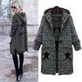 Free shipping Maternity Wear Dear Mommy Autumn&Winter style Woolen Sweater Medium&Large style Hooded Sweater Coat