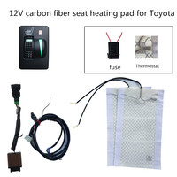 cheapest promotion seats heated seat,seat heater fit Toyota Prado,Corolla,RAV4,REIZ,Yaris,etc.,carbon fibre