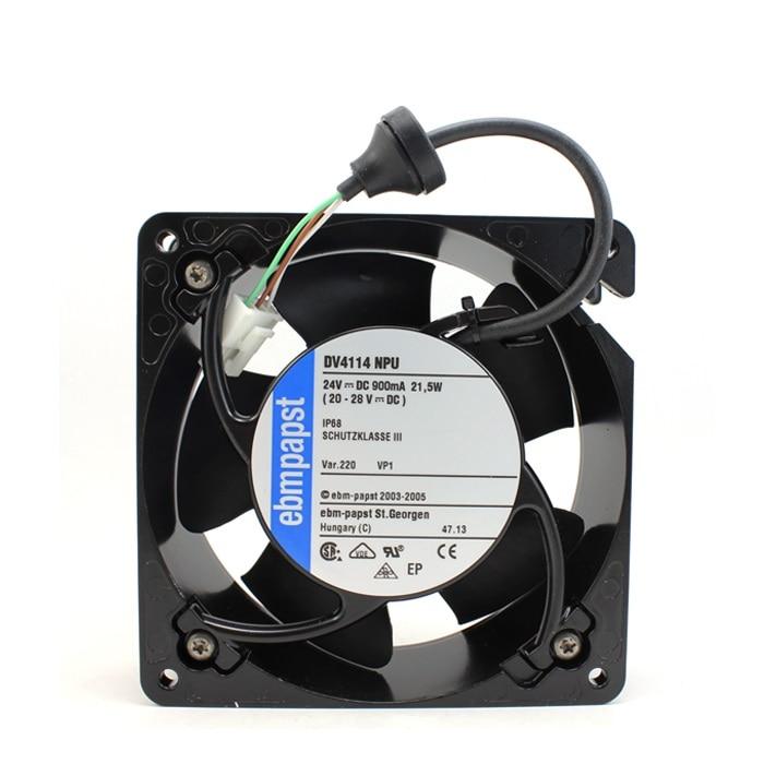 New original DV4114NPU 12038 24V 0.9A waterproof fan axial machine delta 12038 12v cooling fan afb1212ehe afb1212he afb1212hhe afb1212le afb1212she afb1212vhe afb1212me