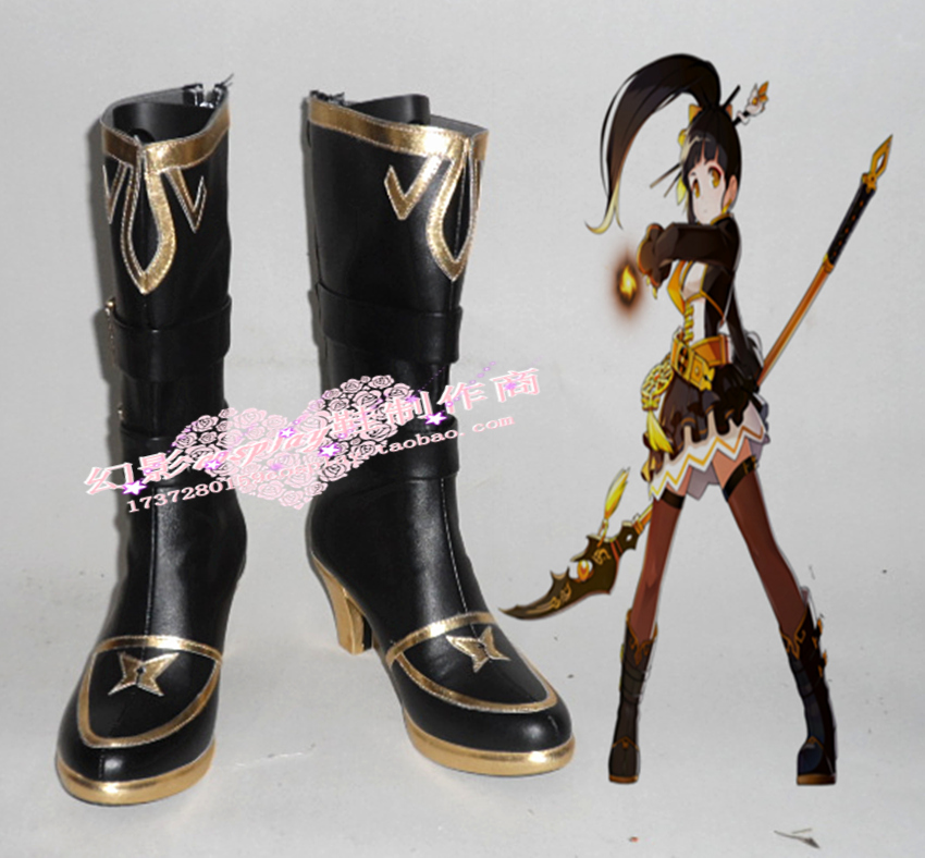 ELSWORD Ara Cosplay Shoes Boots Custom Made-in Shoes from