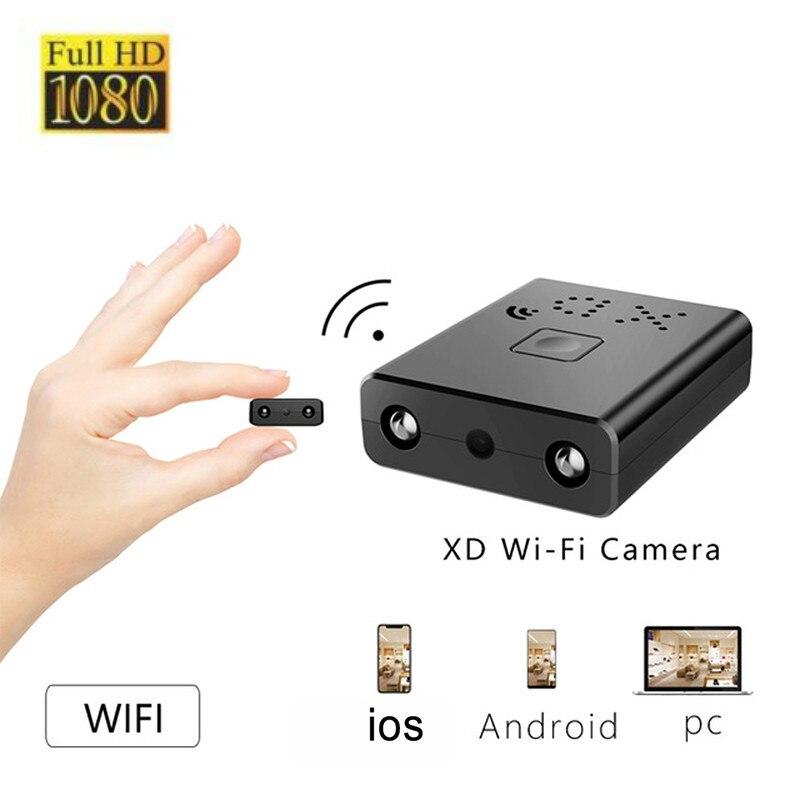 New Smallest HD1080P Mini Wifi Camera Infrared Night Vision Surveillance IP/AP Camera Motion Detect Remote Alarm Camcorde