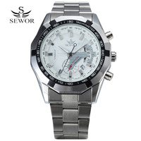 SEWOR Men Watch Luxury Brand Automatic Mechanical Watch Men's Military Sport Clock Male Wrist Watches For Men relogio masculino