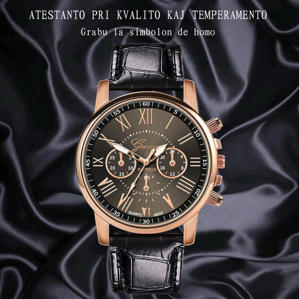 New Fashion Women Leather Band Quartz Analog Wrist Watch