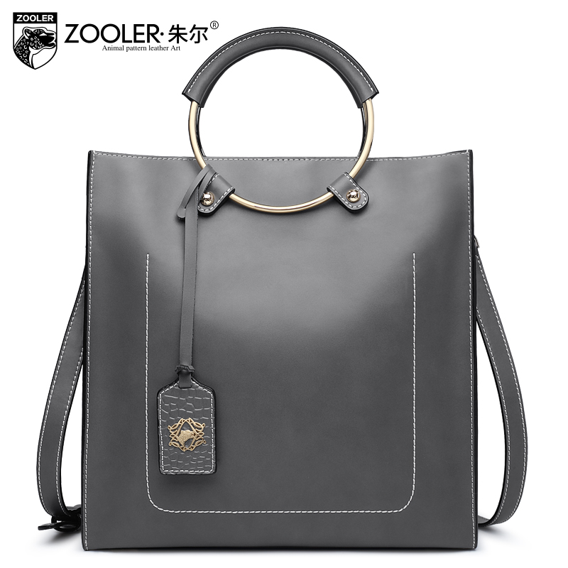 genuine leather bag ZOOLER 2017 woman leather handbag cowhide bag shoulder bags stylish hot decorate solid bolsa feminina #6988