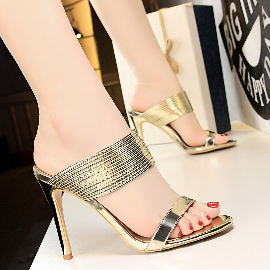 Design Women Pumps Women Shoes Gold Women High Heels Shoes Women Sandals Casual Office Shoes Fashion Ladies Slippers Female Shoe