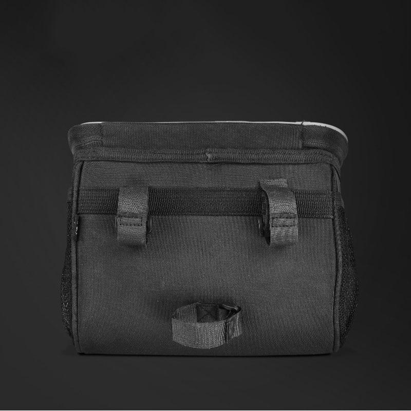 Nuevo bolso de bicicleta suspensión frontal impermeable bolsa de recepción teléfono móvil motocicleta colgante bolsa de pegatina reflectante