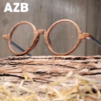 AZB Retro Optik Gözlük Çerçeve Ahşap Erkekler Kadınlar Marka Tasarım Gözlük çerçeveleri lens ile Ahşap Glain Gözlükleri Gözlük Gözlük