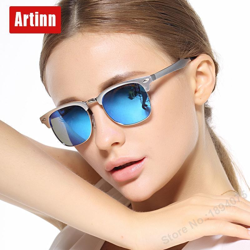 Luxusní značkové sluneční brýle dámské UV400 polarizované drakové kulaté pánské sluneční brýle v pohodě sexy polo bez ráfku M8558