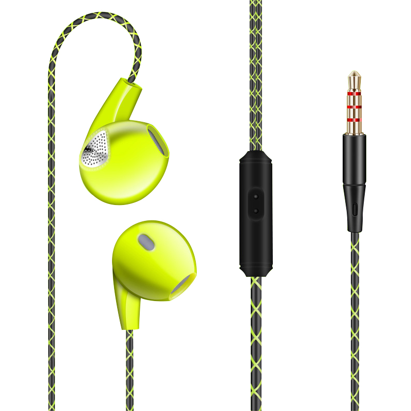 Super Bass Earphone HIFI Stereo Sound 3.5mm Earbuds In-ear Earphones With Mic Sport Running Headset For Phone