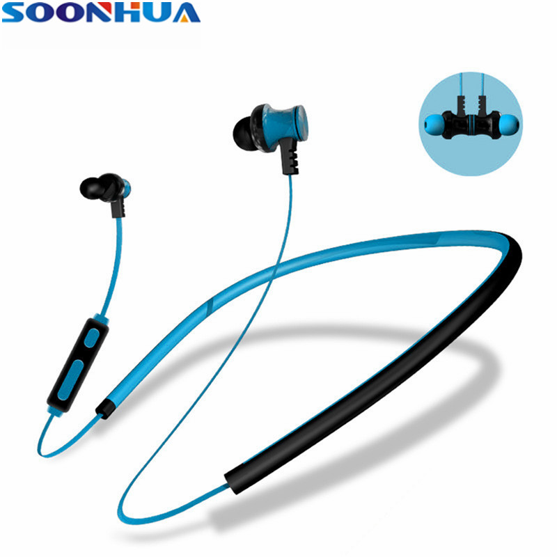 SOONHUA Wireless Headphone Bluetooth Earphone V4.1 Fone de ouvido Neckband Sport Magnetic Headset For Phone With Handsfree Mic