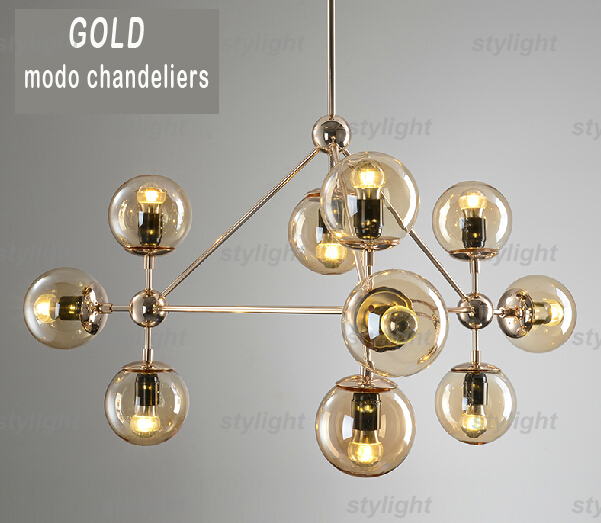 Gold Modo Chandelier 10 Globes 15 21 Golden Color Glass Jason Miller Pendant Lamp Droplight Living Room In Lights From