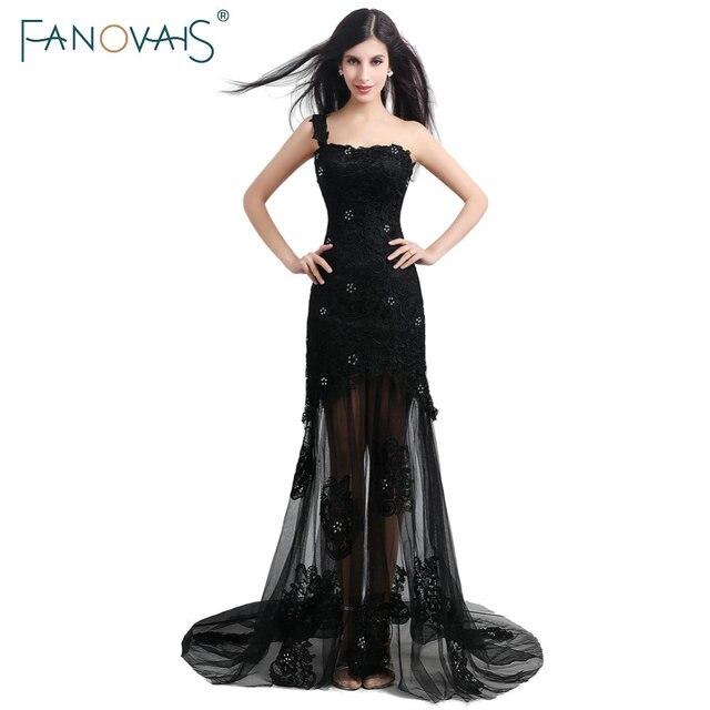 Schwarze Farbe Eine Schulter Tüll Neue Ankunfts elegante Reizvolle ...