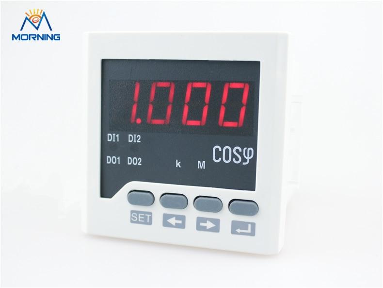 H61 panel size 72*72mm  LED display 1-phase digital power factor meter, measure power factor AC 57.7V 100V 220V 380V me 3h61 72 72mm led display 3 phase digital power factor meter support switch input and transmitting output