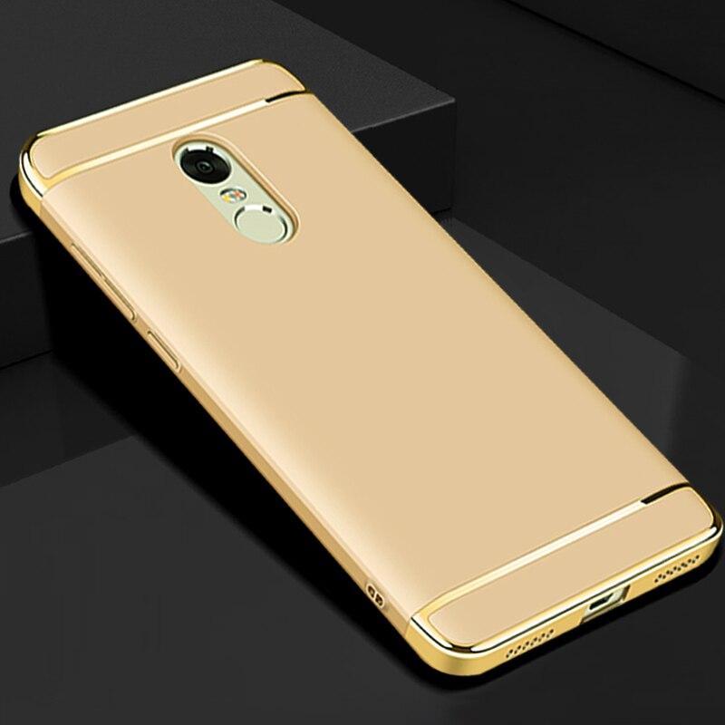 Coque arrière en plastique dur or de luxe, housse, étui pour xiaomi redmi note 4x3 en 1 accessoires de téléphone dorigine pour xiomi note4x 4 x