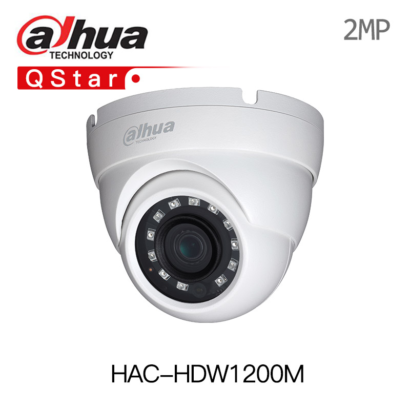 Dahua english version 2MP 1080P HDCVI HAC-HDW1200M HDCVI IR Eyeball Camera Smart DH-HAC-HDW1200M 30m IR IP67 multi-language DWDR стоимость