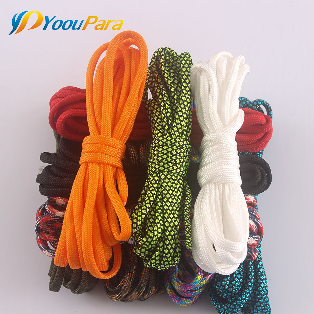 5 Meters/piece Paracord 550 Rope Random Color For Making Bracelets Pet Dog Collar Camping Survival Equipment Tents Rope