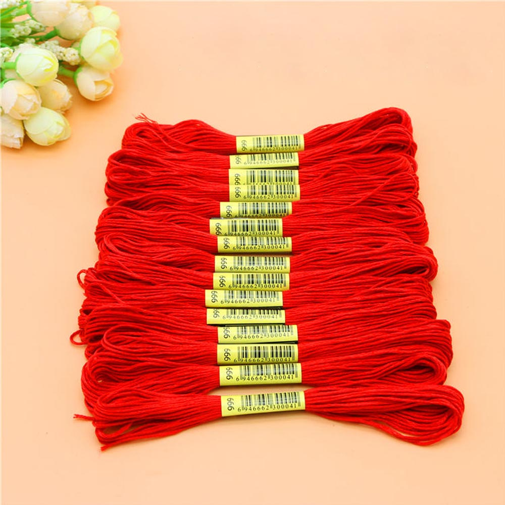 Thread where to buy ice picks in bulk - 15pcs Pack Red Cotton Thread Skeins Floss Embroidery Thread Handmake Crossstitch Diy Accessories Supplies Fast