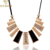 Nouveauté mode bijoux à la mode femmes colliers et pendentifs corde chaîne déclaration collier pendentif rectangle pour cadeau 465